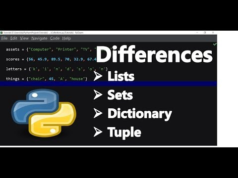 List & tuple & set & dictionary in Python