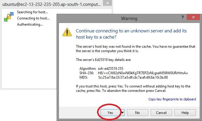 upload files to AWS ec2